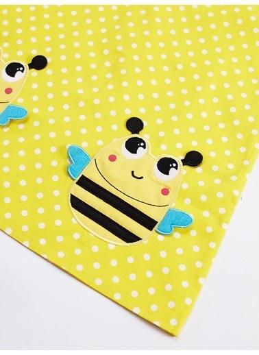 Denokids Puanlı Arılar Kız Elbise Sarı